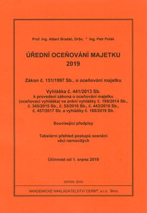 Bradáč A., Polák P.: Úřední oceňování majetku 2019