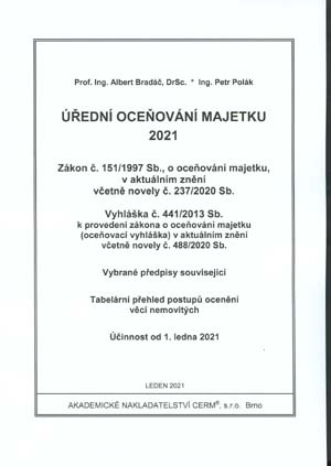 Bradáč A., Polák P.: Úřední oceňování majetku 2021