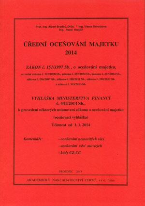 Bradáč, Scholzová, Krejčíř: Úřední oceňování majetku 2014