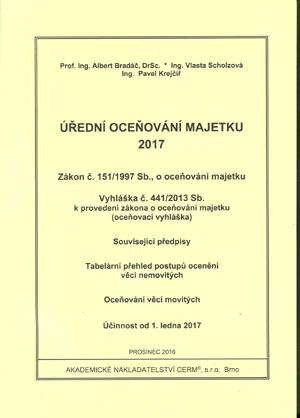 Bradáč, Scholzová, Krejčíř: Úřední oceňování majetku 2017