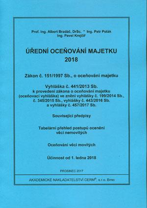 Bradáč, Polák, Krejčíř: Úřední oceňování majetku 2018