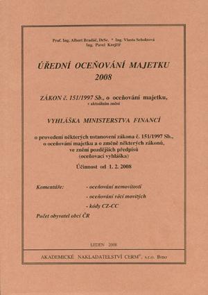Bradáč, Scholzová, Krejčíř: Úřední oceňování majetku 2008