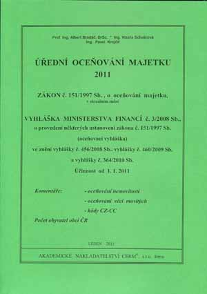 Bradáč, Scholzová, Krejčíř: Úřední oceňování majetku 2011