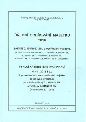 Bradáč, Scholzová, Krejčíř: Úřední oceňování majetku 2016